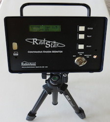 Commercial radon testing monitor